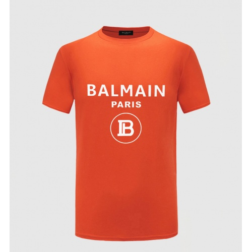 Balmain T-Shirts Short Sleeved O-Neck For Men #783770 $23.28, Wholesale Replica Balmain T-Shirts