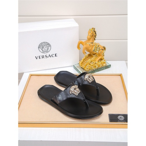 Versace Slippers For Men #783944 $43.65, Wholesale Replica Versace Slippers