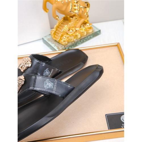 Replica Versace Slippers For Men #783944 $43.65 USD for Wholesale