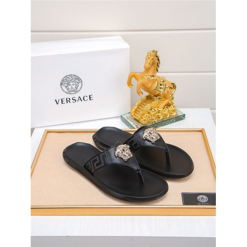 Versace Slippers For Men #783945 $43.65, Wholesale Replica Versace Slippers