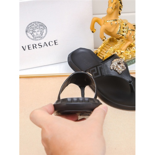 Replica Versace Slippers For Men #783945 $43.65 USD for Wholesale