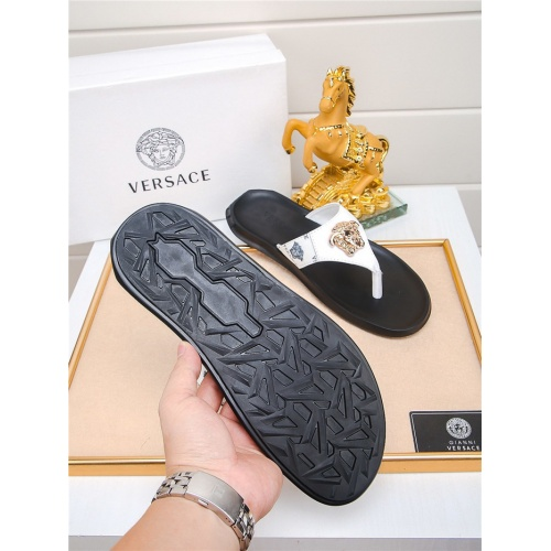 Replica Versace Slippers For Men #783946 $43.65 USD for Wholesale