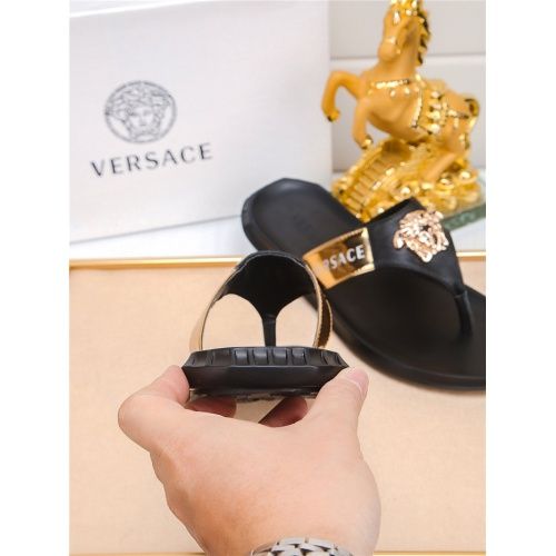 Replica Versace Slippers For Men #783947 $698.40 USD for Wholesale