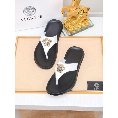 Versace Slippers For Men #783949 $43.65, Wholesale Replica Versace Slippers