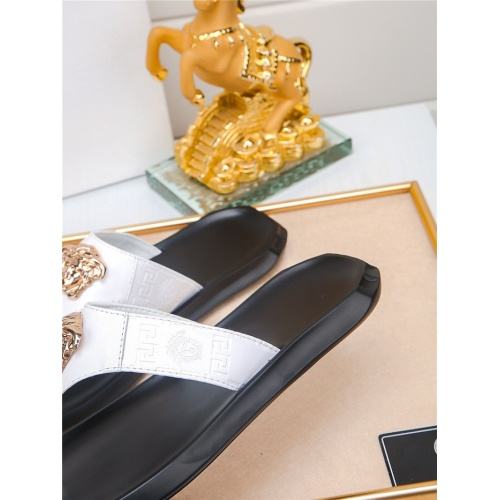 Replica Versace Slippers For Men #783949 $43.65 USD for Wholesale