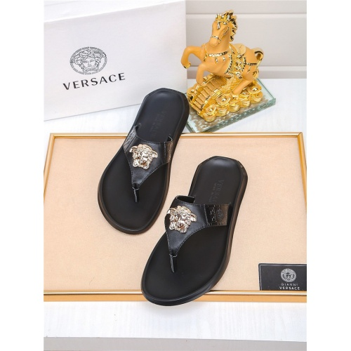 Versace Slippers For Men #783950 $43.65, Wholesale Replica Versace Slippers