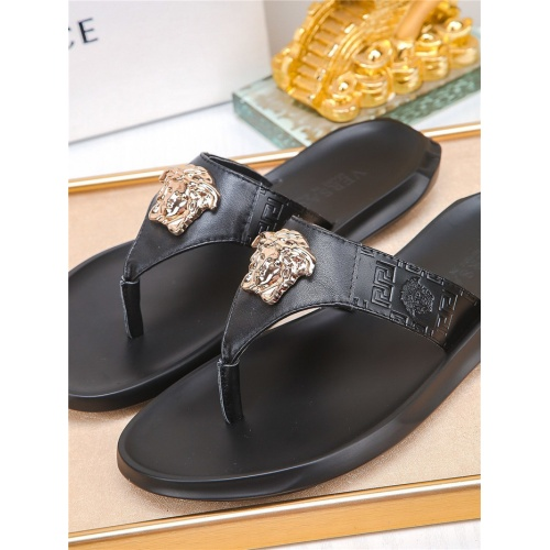 Replica Versace Slippers For Men #783950 $43.65 USD for Wholesale