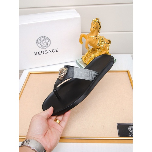 Versace Slippers For Men #783951 $43.65, Wholesale Replica Versace Slippers