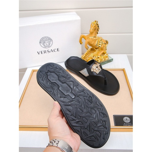 Replica Versace Slippers For Men #783951 $43.65 USD for Wholesale