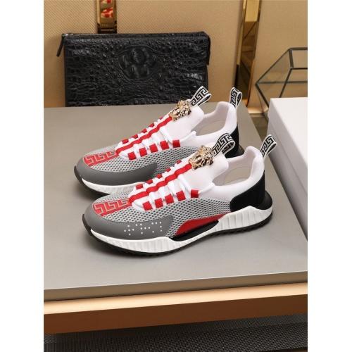Versace Casual Shoes For Men #783972 $73.72, Wholesale Replica Versace Casual Shoes