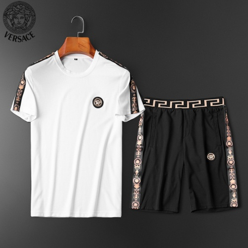 Versace Tracksuits Short Sleeved O-Neck For Men #784059 $62.08, Wholesale Replica Versace Tracksuits