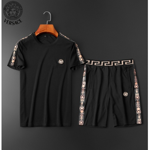 Versace Tracksuits Short Sleeved O-Neck For Men #784060 $62.08, Wholesale Replica Versace Tracksuits