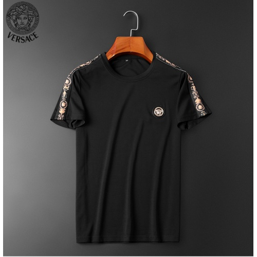 Replica Versace Tracksuits Short Sleeved O-Neck For Men #784060 $62.08 USD for Wholesale