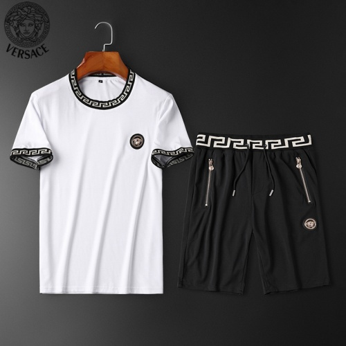 Versace Tracksuits Short Sleeved O-Neck For Men #784065 $62.08, Wholesale Replica Versace Tracksuits