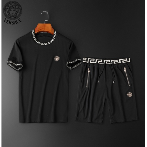 Versace Tracksuits Short Sleeved O-Neck For Men #784066 $62.08, Wholesale Replica Versace Tracksuits