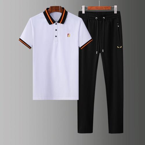 Fendi Tracksuits Short Sleeved Polo For Men #784069