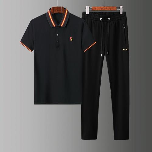 Fendi Tracksuits Short Sleeved Polo For Men #784071