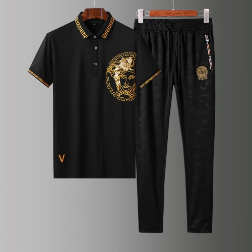 Versace Tracksuits Short Sleeved Polo For Men #784072 $65.96, Wholesale Replica Versace Tracksuits