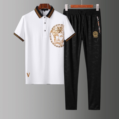 Versace Tracksuits Short Sleeved Polo For Men #784073 $65.96, Wholesale Replica Versace Tracksuits