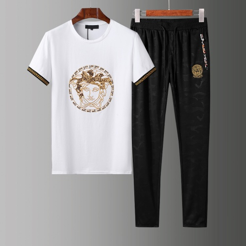 Versace Tracksuits Short Sleeved O-Neck For Men #784076 $65.96, Wholesale Replica Versace Tracksuits