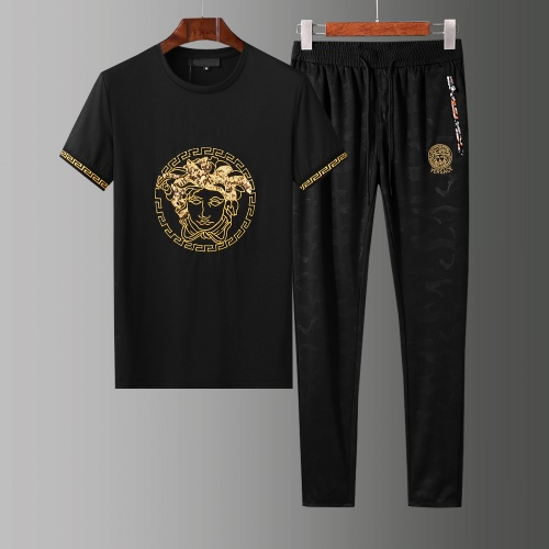 Versace Tracksuits Short Sleeved O-Neck For Men #784077 $65.96, Wholesale Replica Versace Tracksuits