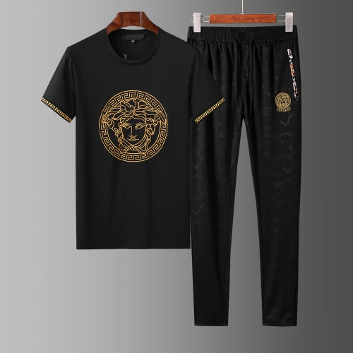 Versace Tracksuits Short Sleeved O-Neck For Men #784079 $65.96, Wholesale Replica Versace Tracksuits
