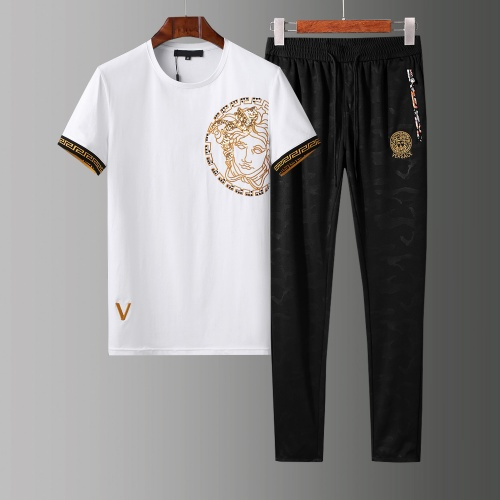 Versace Tracksuits Short Sleeved O-Neck For Men #784080 $65.96, Wholesale Replica Versace Tracksuits