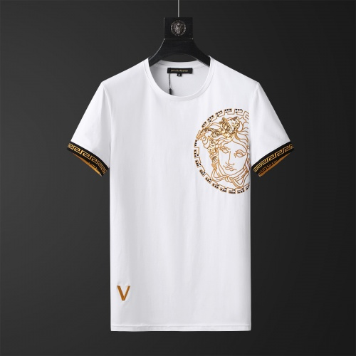 Replica Versace Tracksuits Short Sleeved O-Neck For Men #784080 $65.96 USD for Wholesale