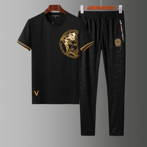 Versace Tracksuits Short Sleeved O-Neck For Men #784081 $65.96, Wholesale Replica Versace Tracksuits