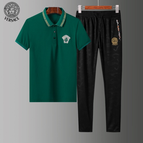 Versace Tracksuits Short Sleeved Polo For Men #784085