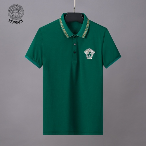 Replica Versace Tracksuits Short Sleeved Polo For Men #784085 $65.96 USD for Wholesale