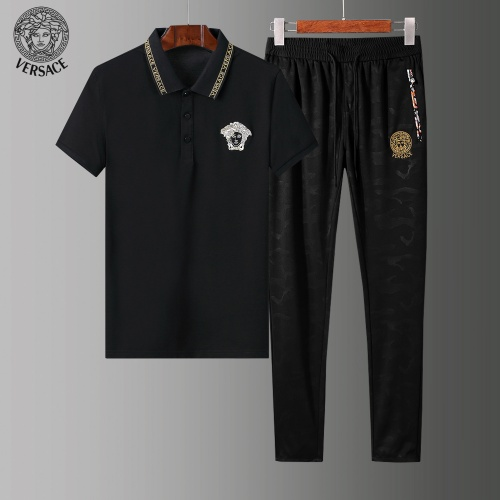 Versace Tracksuits Short Sleeved Polo For Men #784086 $65.96, Wholesale Replica Versace Tracksuits
