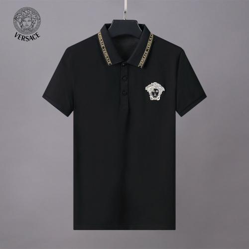 Replica Versace Tracksuits Short Sleeved Polo For Men #784086 $65.96 USD for Wholesale