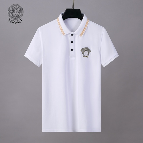 Replica Versace Tracksuits Short Sleeved Polo For Men #784087 $65.96 USD for Wholesale