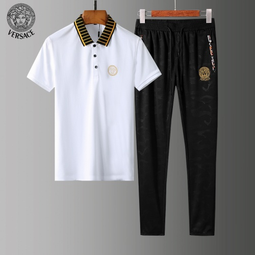 Versace Tracksuits Short Sleeved Polo For Men #784088 $65.96, Wholesale Replica Versace Tracksuits