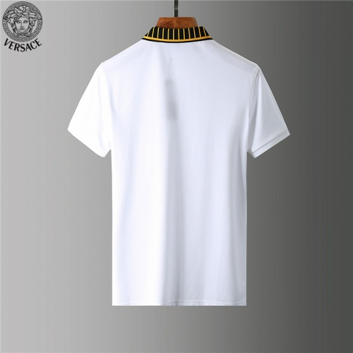 Replica Versace Tracksuits Short Sleeved Polo For Men #784088 $65.96 USD for Wholesale