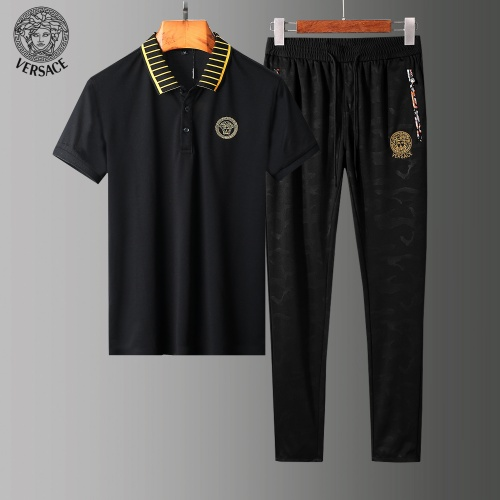 Versace Tracksuits Short Sleeved Polo For Men #784089 $65.96, Wholesale Replica Versace Tracksuits