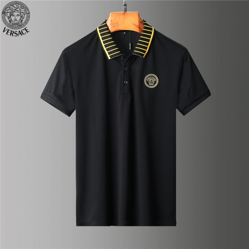 Replica Versace Tracksuits Short Sleeved Polo For Men #784089 $65.96 USD for Wholesale