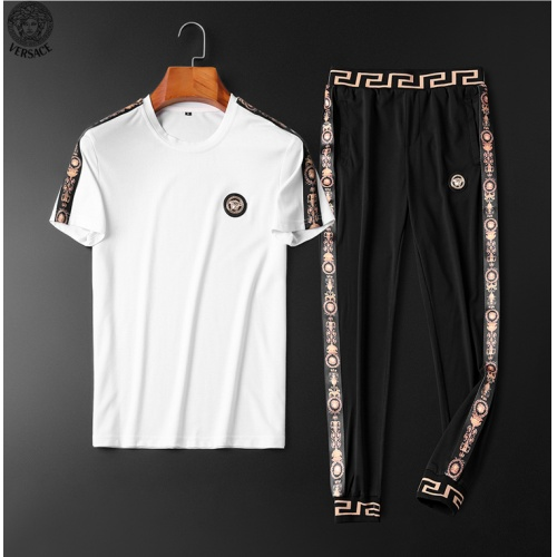 Versace Tracksuits Short Sleeved O-Neck For Men #784097 $65.96, Wholesale Replica Versace Tracksuits