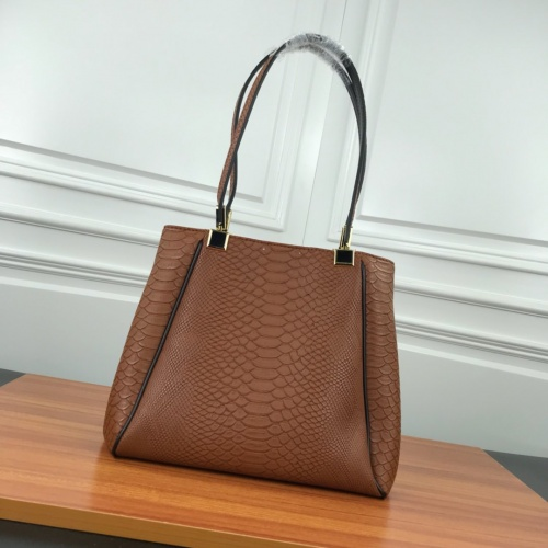 Replica Bvlgari AAA Quality Shoulder Bags For Women #784118 $90.21 USD for Wholesale