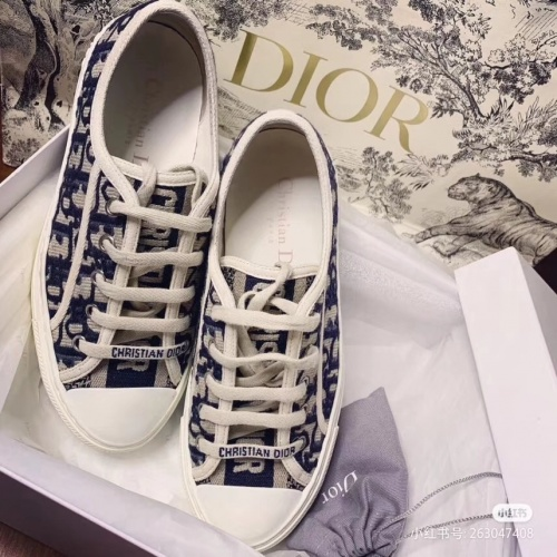 Replica Christian Dior Casual Shoes For Women #784126 $82.45 USD for Wholesale