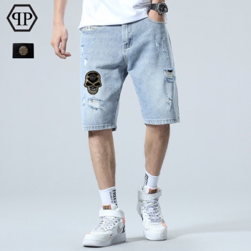 Philipp Plein PP Jeans Shorts For Men #784443