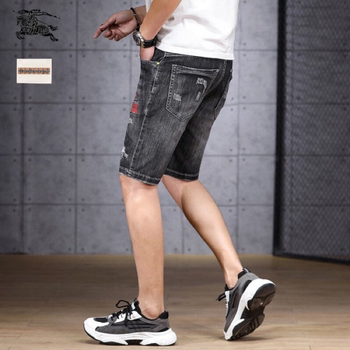 Replica Burberry Jeans Shorts For Men #784456 $38.80 USD for Wholesale