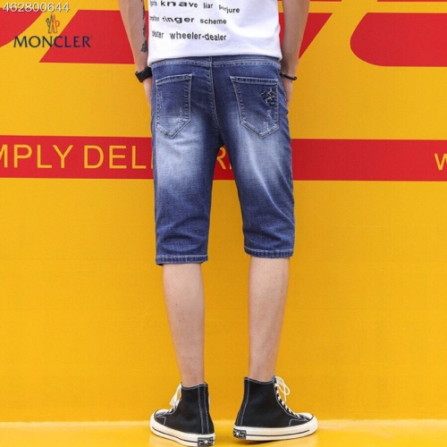Replica Moncler Jeans Shorts For Men #784479 $38.80 USD for Wholesale