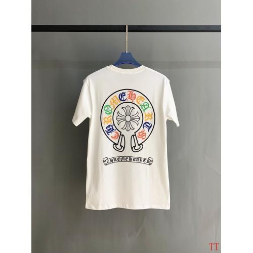 Chrome Hearts T-Shrits Short Sleeved O-Neck For Men #784547 $31.04, Wholesale Replica Chrome Hearts T-Shrits