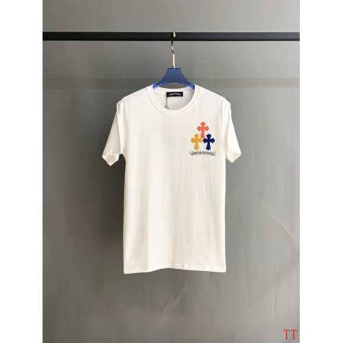 Replica Chrome Hearts T-Shrits Short Sleeved O-Neck For Men #784547 $31.04 USD for Wholesale