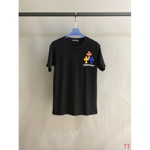 Replica Chrome Hearts T-Shrits Short Sleeved O-Neck For Men #784548 $31.04 USD for Wholesale