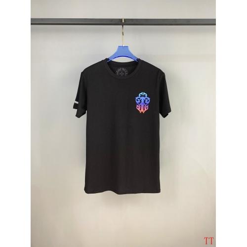 Replica Chrome Hearts T-Shrits Short Sleeved O-Neck For Men #784551 $31.04 USD for Wholesale