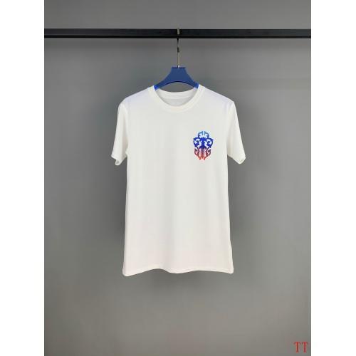 Replica Chrome Hearts T-Shrits Short Sleeved O-Neck For Men #784552 $31.04 USD for Wholesale