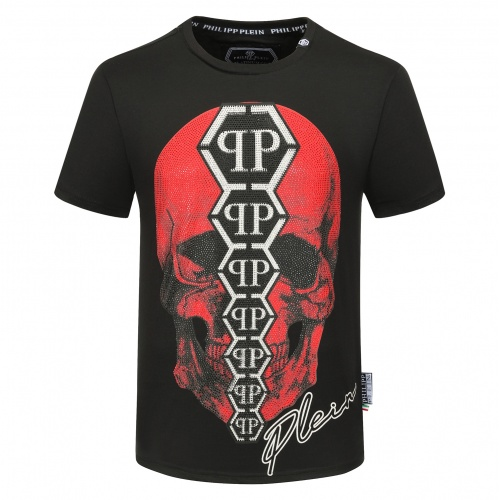 Philipp Plein PP T-Shirts Short Sleeved O-Neck For Men #784717 $26.19 USD, Wholesale Replica Philipp Plein PP T-Shirts